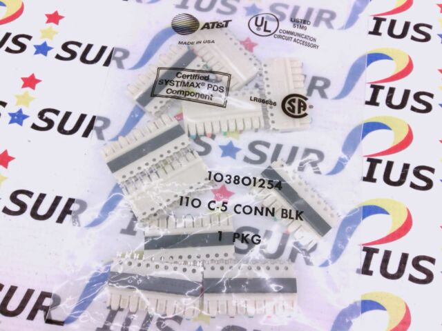 bag of 10 at t 103801254 110 c5 connector blocks systimax pds ebay rh ebay com 100 Pair 110 Block Siemon 110 Block