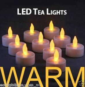 Image Is Loading 60 X Led Tea Light Tealight Candle Flameless