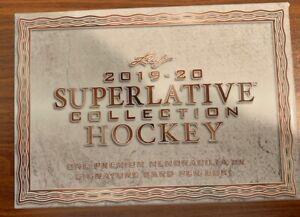 2019/20 Leaf Superlative Collection Hockey Empty Box Free Shipping