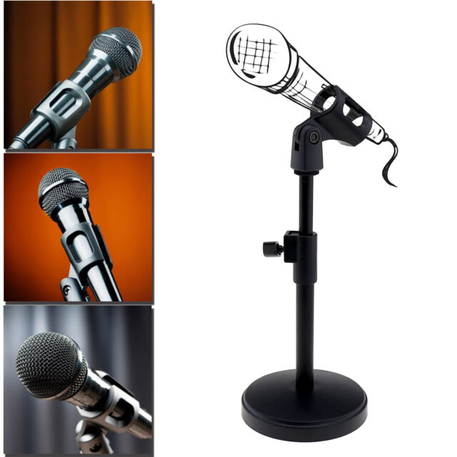 Swell Desk Table Solid Base Microphone Stand Mic Holder Clamp For Podcasts Lectures Interior Design Ideas Clesiryabchikinfo