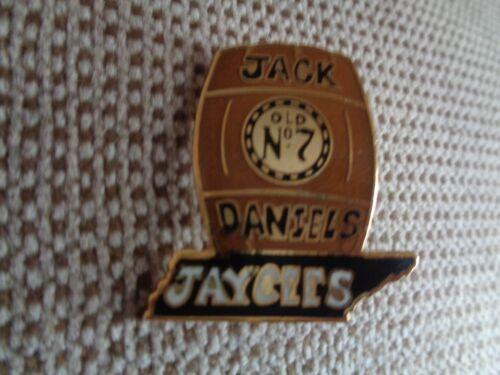 """Tn Jaycees hard to find Jack Daniels Whiskey Barrel  1 1//4/"""" Tall Hat Pin--Lapel"""