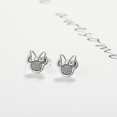 Fashion Jewelry Stud Earrings Children Girls Kids Minnie Mouse Shaped 1-2