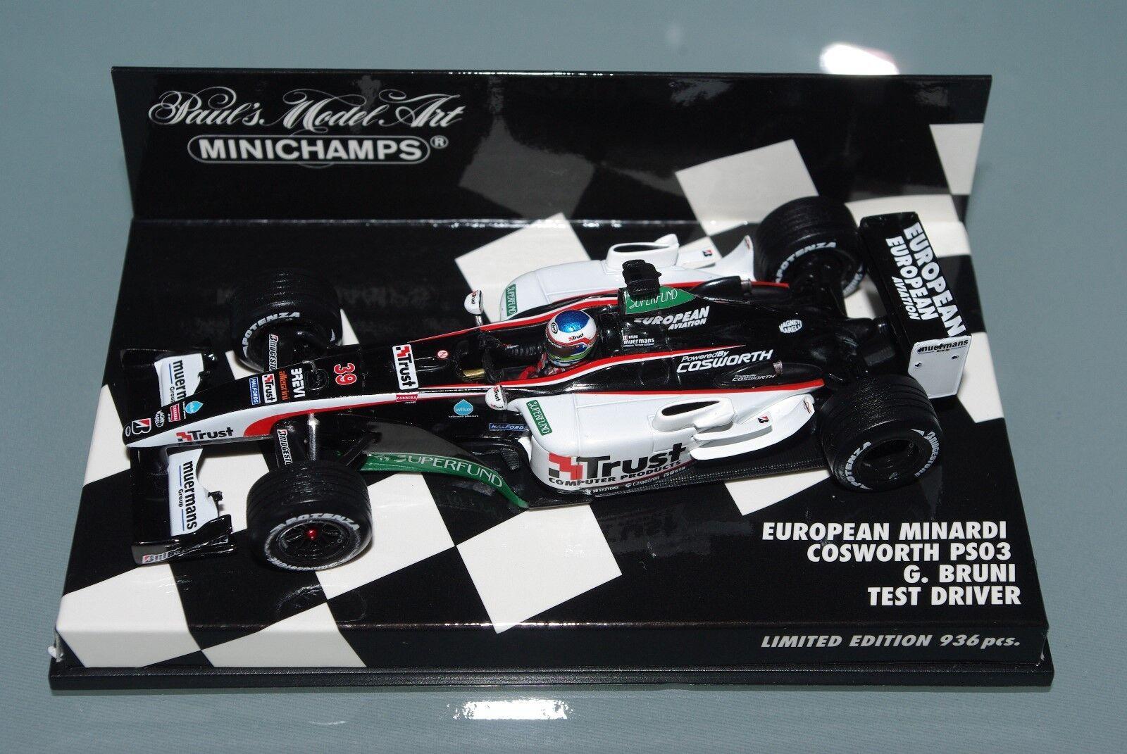 Minichamps F1 1 43 EUROPEAN MINARDI COSWORTH PS03 - G. BRUNI TEST DRIVER 936 pcs
