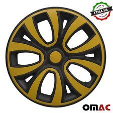 15 Inch Wheel Rim Cover For Toyota Matt Black Yellow Insert 4pcs Set Fits Camry