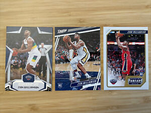 2019-20 Chronicles Zion Williamson Rookie Card RC x3 Rookies and Stars, Threads