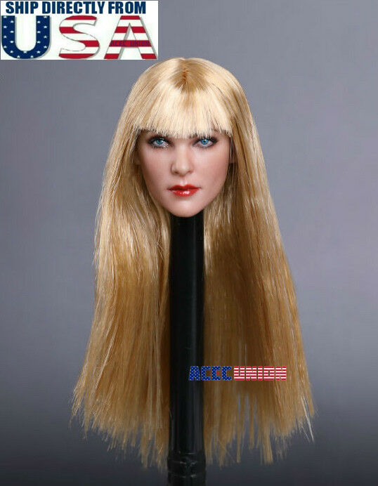 1 6 Female Head Sculpt Long Blonde Hair G GC019 For 12  PHICEN Hot Toys Figure