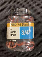 """Apollo 3//4/"""" Copper Pro Crimp Ring Jar LOT of 2--75 pks APXCR34LTJR"""