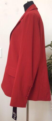 poliestere Giacca da rosso di York in 22w a New da NWT D f taglia misto blazer donna ztg88I