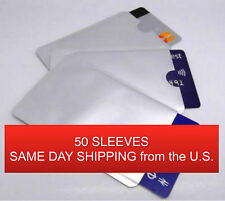 50 Wholesale Lot RFID Protection Card Holder Metal Sleeve Blocker Credit/Debit