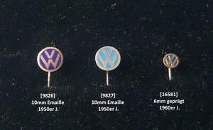 VW Anstecknadel/n stick pins original 1950er/1960er Jahre AUSSUCHEN