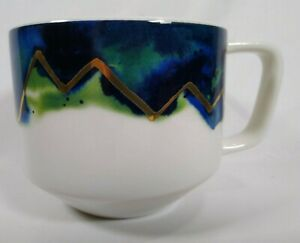 Starbucks-Coffee-Mug-06-08-Artisan-Series-Mountains-Blue-Gold-12oz-Limited-2015