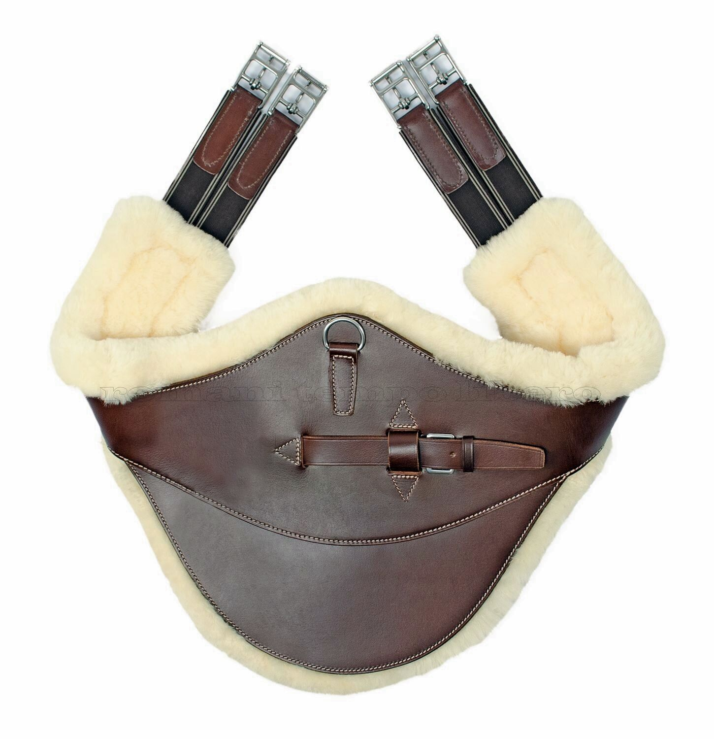 Sottopancia paramponi con montone belly predector girth with removable sheepskin