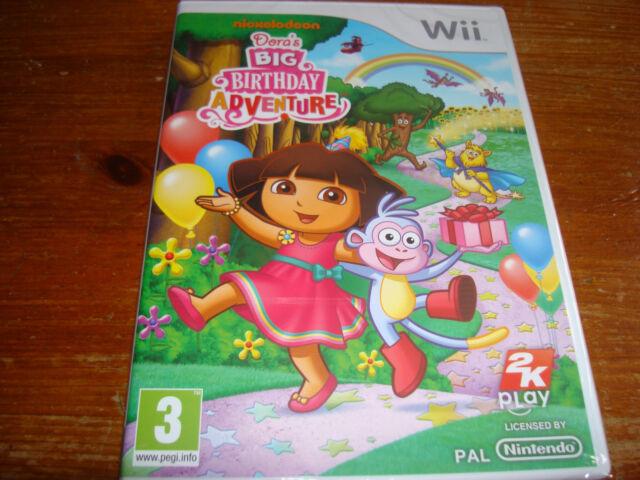 DORA'S BIG BIRTHDAY ADVENTURE ** NEW & SEALED ** Nintendo Wii Game