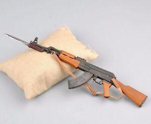 1-6-Metal-AK47-Rifles-Gun-Model-Bayonet-Kit-Weapon-Toy-F-12in-Action-Figure