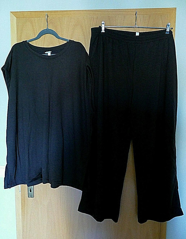 H&M +Size/Curve Jerseyhose mit Oberteil in XXL Schokoladenbraun - NEUwertig