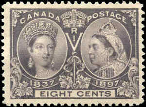 1897-Mint-NH-Canada-F-VF-Scott-56-8c-Diamond-Jubilee-Stamp