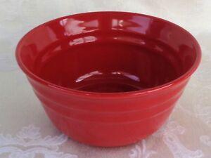Image is loading Rachael-Ray-Double-Ridge-Red-Dinnerware-One-Coupe- & Rachael Ray Double Ridge Red Dinnerware One Coupe Cereal Bowl ...