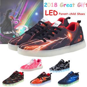 7 LED Kids Lightning Luminous Shoes