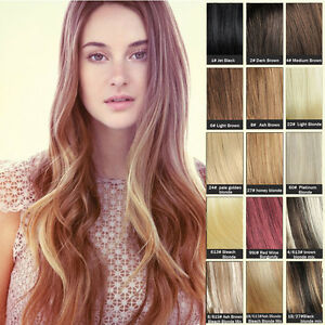 New clip in one piece 100 remy human hair extensions full head 30 image is loading new clip in one piece 100 remy human pmusecretfo Choice Image
