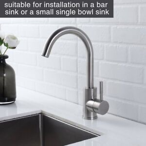 360 Degree Swivel Kitchen Sink Faucet Commercial Stainless Steel Bar