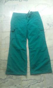 LOT OF 6 scrubs scrub elastic/drawstring pant Green 2X- LARGE 2XL unisex