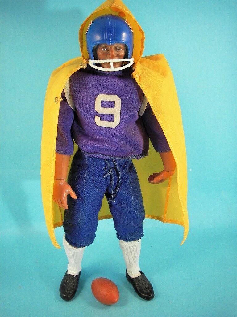 Big jim mit  football lila outfit , gelber umhang  USA , rar