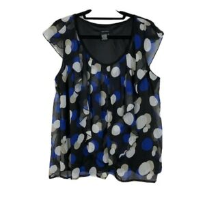 JULES /& LEOPOLD Women/'s Black /& White Pattern Sleeveless Blouse Size S,M NWT