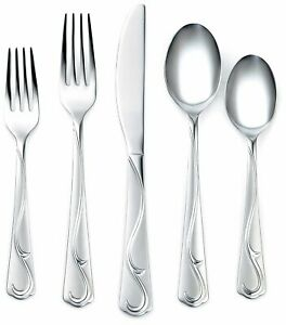 Corelle-flatware-Eloise-sand-stainless-20PC-set-18-0-original-box