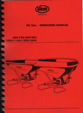 Vicon Vari Spreader PS 400//500//600 /& PS 600 /'S/' Operating Instruction Book