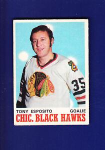 Tony-Esposito-HOF-1970-71-O-PEE-CHEE-OPC-Hockey-153-VGEX-Chicago-Blackhawks
