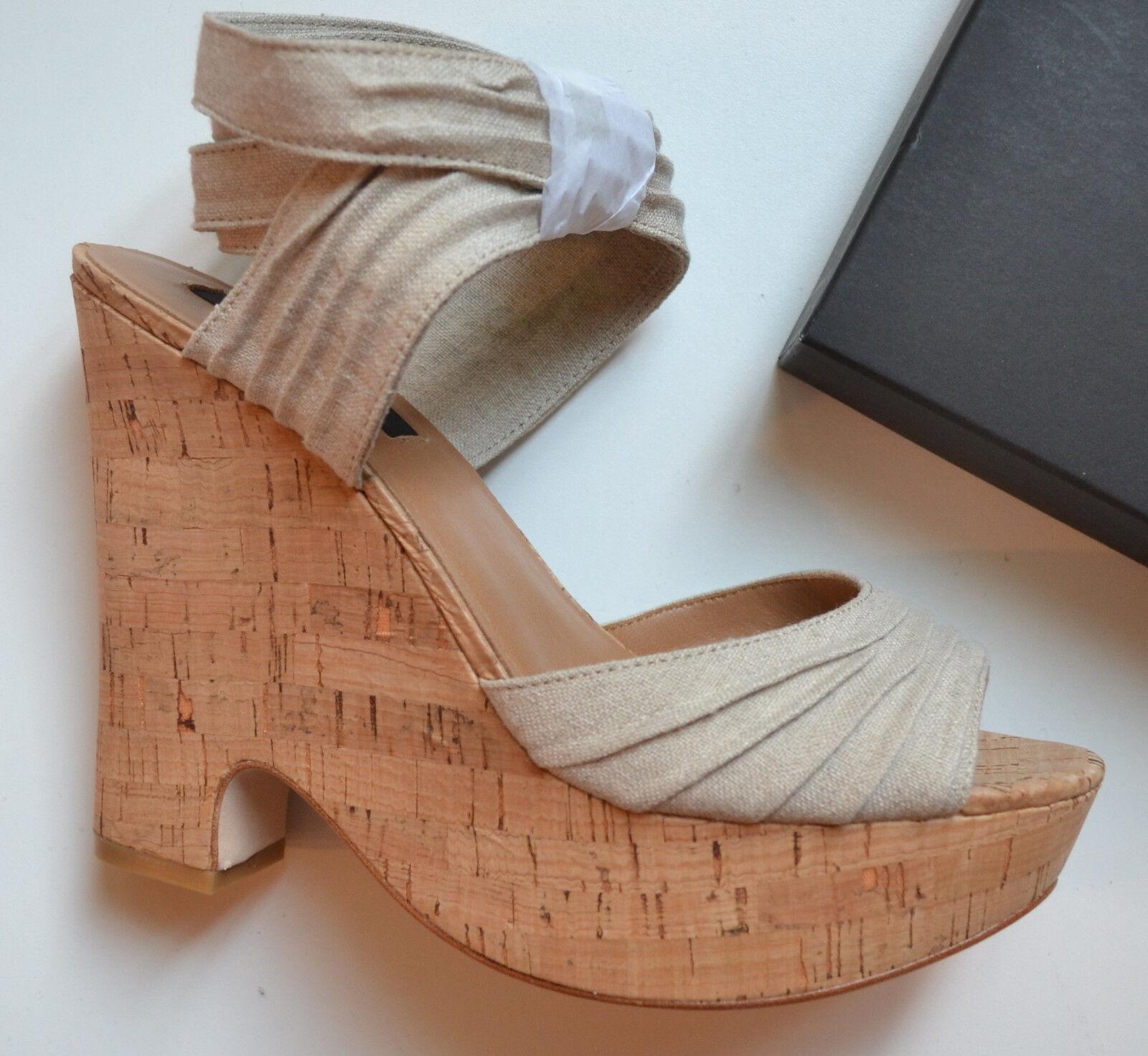 NIB  198 Ann Taylor Cork Wedge Sandals Size 7.5(US)