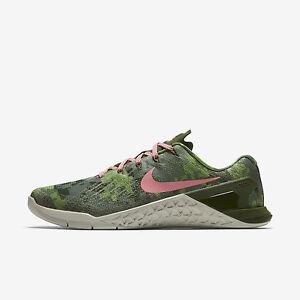 WOMEN'S Nike Metcon 3 AMP Sz 6 12 Legion Green/Melon 849808 300 FREE