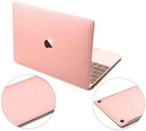 best service 57aee a75a1 Details about Rose Gold 3M Skin Cover Case Screen Protector for Apple New  MacBook Air 13 A1932