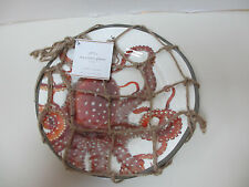 Pottery Barn LaPlaya Sea Life Melamine Salad Plates - set of 4 New with netting.
