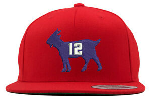 1f6a55db4e4 Details about New England Patriots Tom Brady Goat Embroidered Snapback Hat