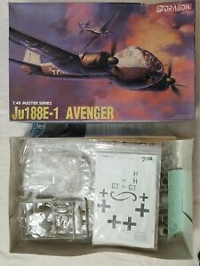 1994-DRAGON-5518-Ju-188E-1-AVENGER-1-48-SCALE-KIT-w-AEROMASTER-48-145-DECALS