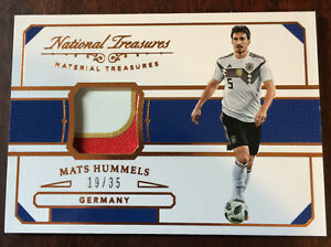 best sneakers be875 13fdf Details about 2018 Panini National Treasures Mats Hummels Jersey Patch  #19/35 Germany Material