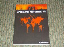 API: Apocalypse Prevention, Inc Core Rulebook - Third Eye Games 2008 - SC 3EG001