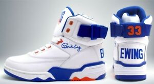 huge discount 36165 29813 Image is loading PATRICK-EWING-ATHLETICS-SNEAKERS-33-HI-White-Royal-