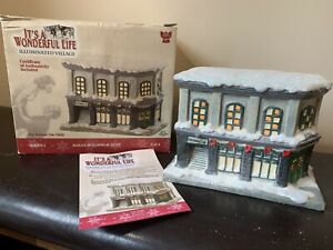 It-039-s-A-Wonderful-Life-Illuminated-Village-Bailey-Building-amp-Loan-Enesco-2003