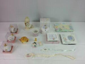 Vintage-Enesco-Precious-Moments-Assorted-Lot-Of-15-Pieces-Frames-Ornaments-Boxes