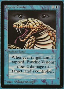 Psychic Venom Beta PLD Blue Common MAGIC GATHERING CARD (ID# 212113) ABUGames