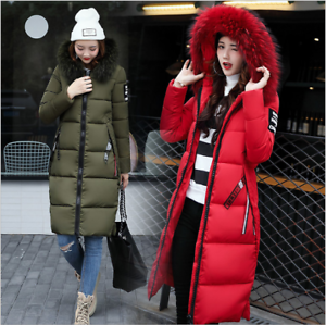 2018-Fashion-Women-039-s-Winter-Down-Coat-Thick-Long-Cotton-Parka-Hooded-Warm-Jacket
