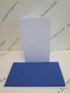 10 x blank white greeting cards 5x9 229x128mm 10 blue envs image is loading 10 x blank white greeting cards 5 034 m4hsunfo