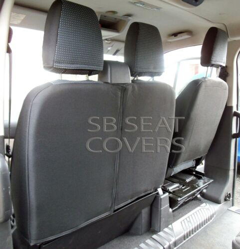 FORD TRANSIT VAN CUSTOM LWB SEAT COVERS  89A CLOTH FABRIC MADE TO MEASURE