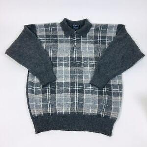 Burberry a gris M cuadros suéter cuello cashmere con Sz 100 tqr17t