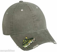 Cap - Embroidered Bass On Visor Fishing Hat Bas-021