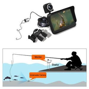"HD Underwater Ice Video Fishing Dual Camera DVR 4.3"" Monitor 20/30m Fish Finder"