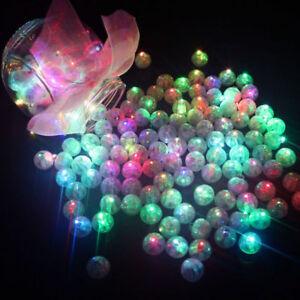 Lots Mini Led Flash Ball Lamp Balloon Lights Wedding Party Decor Battery Powered