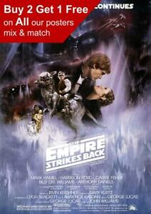 Details about Star Wars Episode V The Empire Strikes Back Movie Poster A5  A4 A3 A2 A1